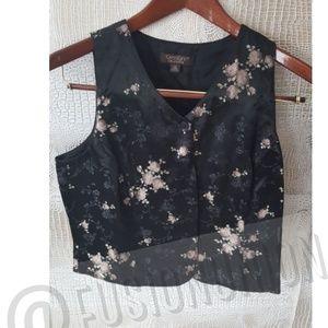 Vest vintage Karen kane collection sz 10 Asian